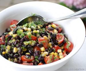 Salat mit Bohnen & Mais